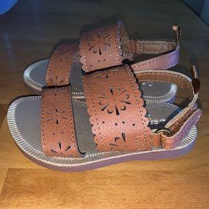 Baby girl sandals size 4 OshKosh B'gosh